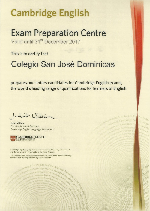 Cambridge English - Exam Preparation Center - Colegio San José Dominicas
